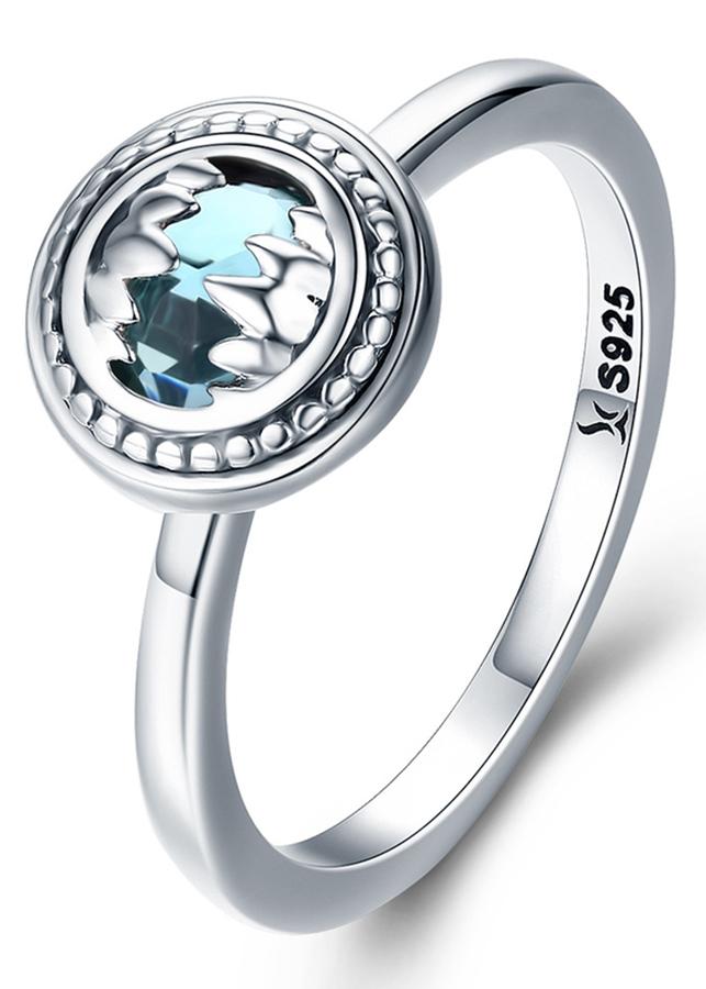 Nhẫn Bạc Nữ Mirason Silver  Gems 925 Đá Xanh Ngọc