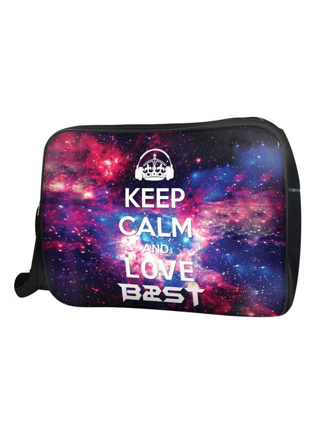 Túi Đeo Chéo Hộp Unisex Keep Calm And Love B2St - TCKK038