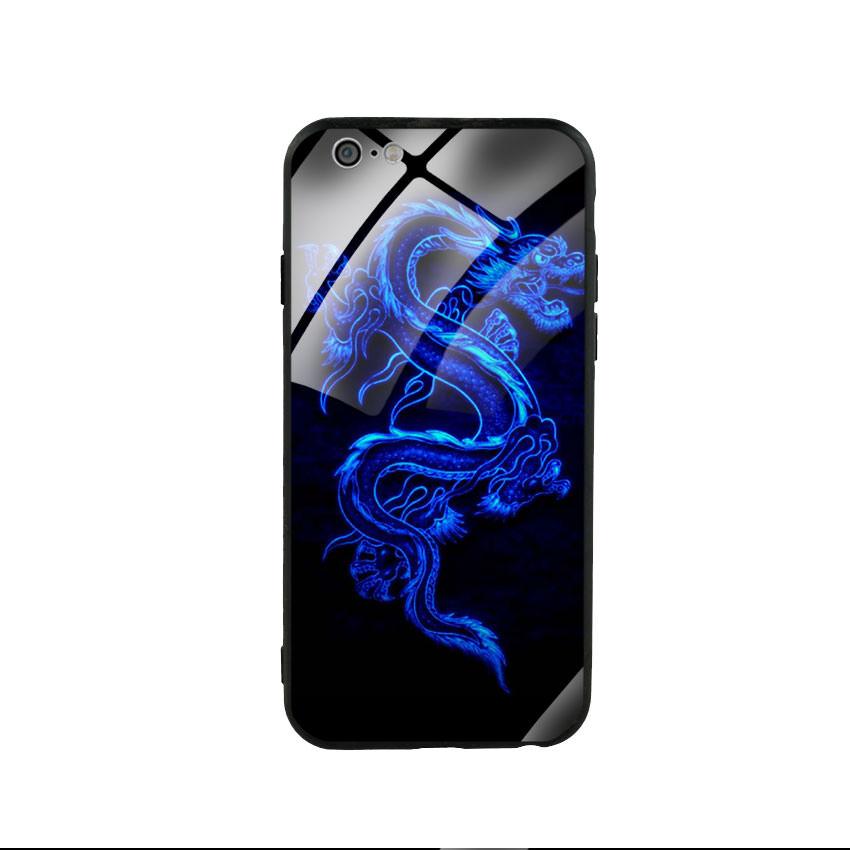 Ốp lưng kính cường lực cho điện thoại Iphone 6/6s - Dragon 02