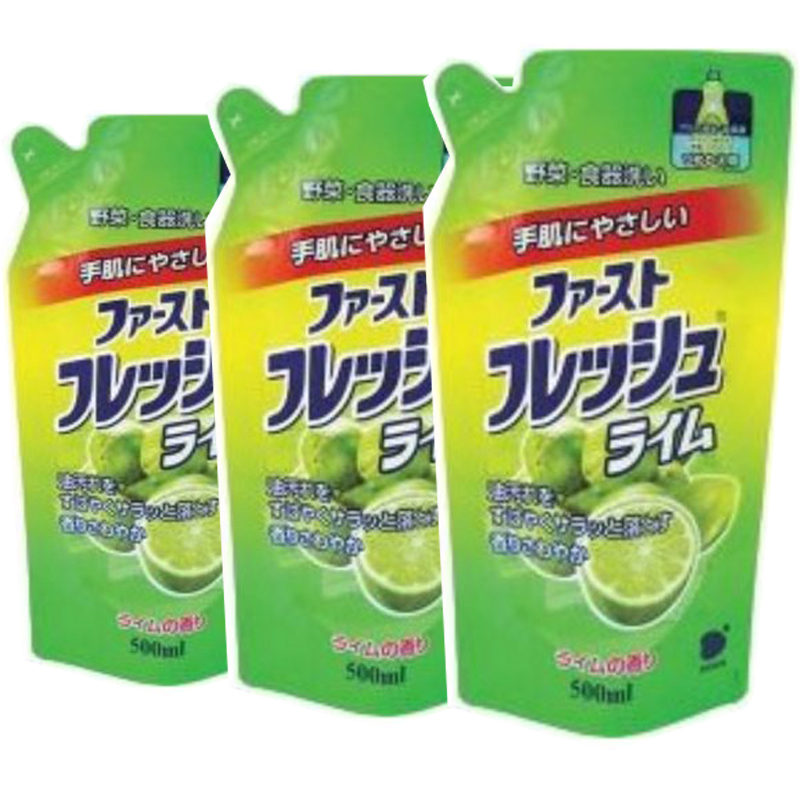 Combo 3 Túi Nước Rửa Chén, Ngâm Rửa Rau Quả Đa Năng DAIICHI Hương Chanh Nhật Bản 500ml