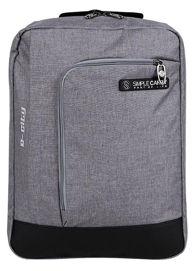 Balo Simplecarry E-City M Grey 0001616 (41 x 30 cm) - Xám