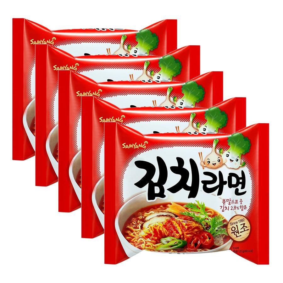 Combo 5 Gói Mì Kim Chi Samyang (120g / Gói)