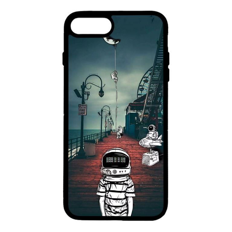 Ốp lưng dành cho điện thoại Iphone 7 Plus Vũ Trụ Mặt Trăng