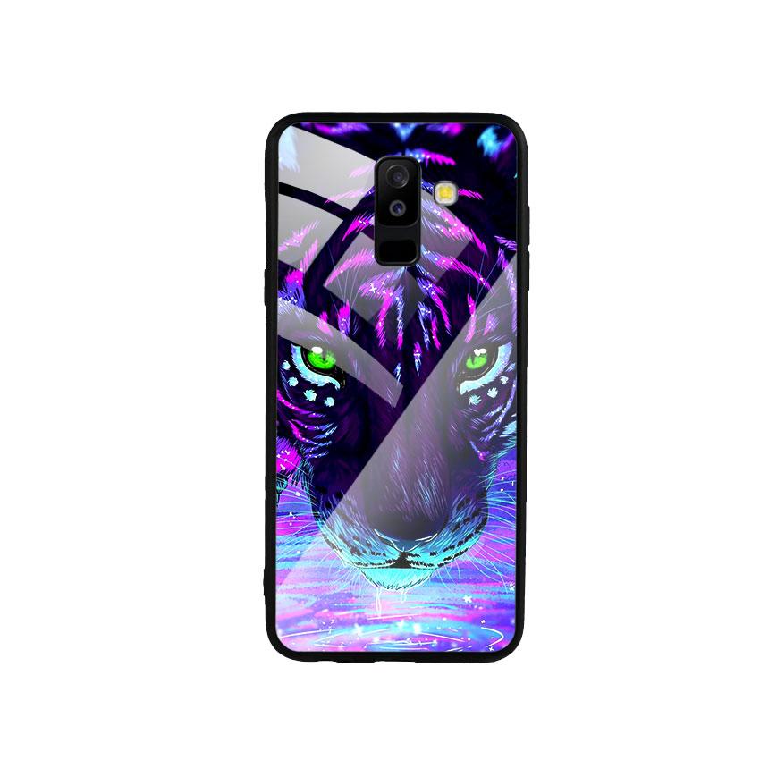 Ốp Lưng Kính Cường Lực cho điện thoại Samsung Galaxy A6 Plus 2018 - Tiger