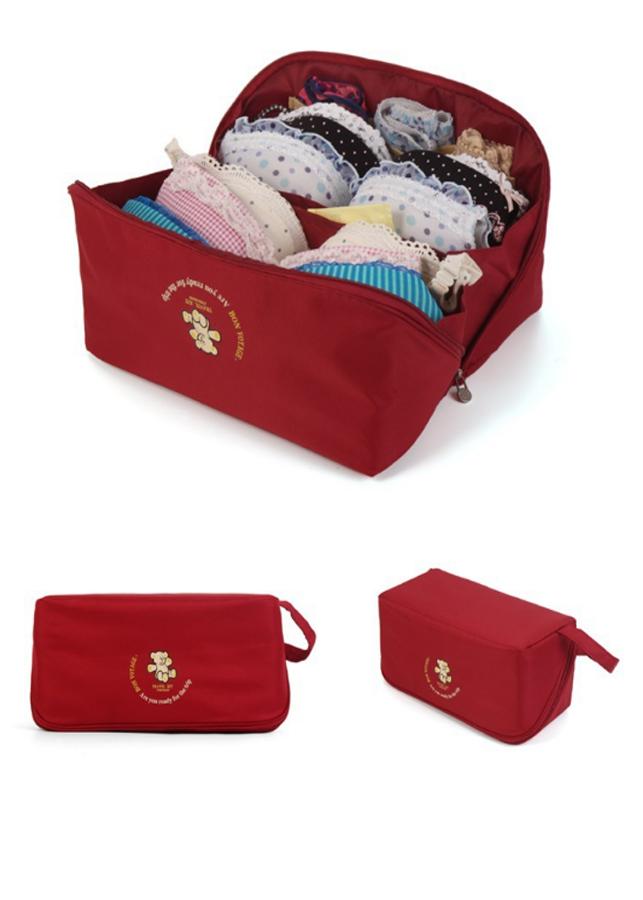 Túi Đựng Đồ Lót Du Lịch màu đỏ