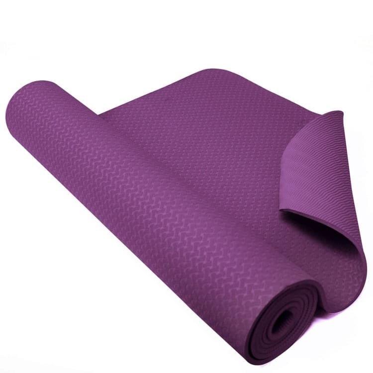 Combo Thảm tập yoga cao cấp TPE 2 lớp tặng kèm túi lưới - màu ngẫu nhiên