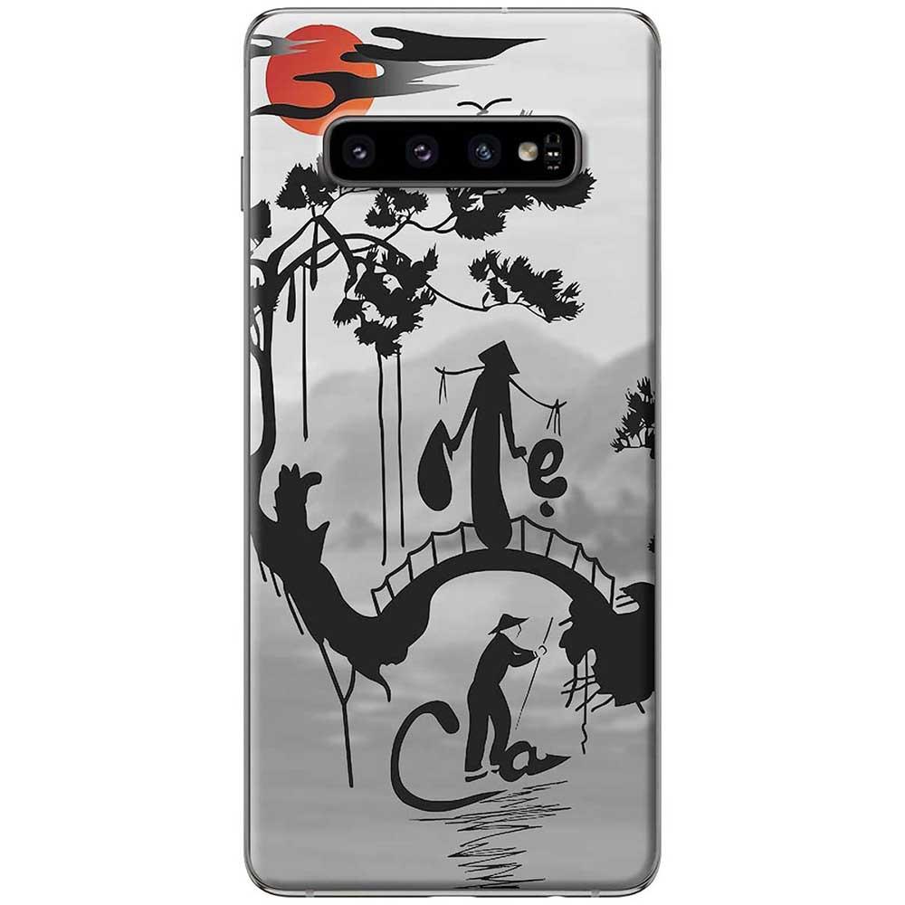 Ốp lưng  dành cho Samsung Galaxy S10 mẫu Cha mẹ núi sông