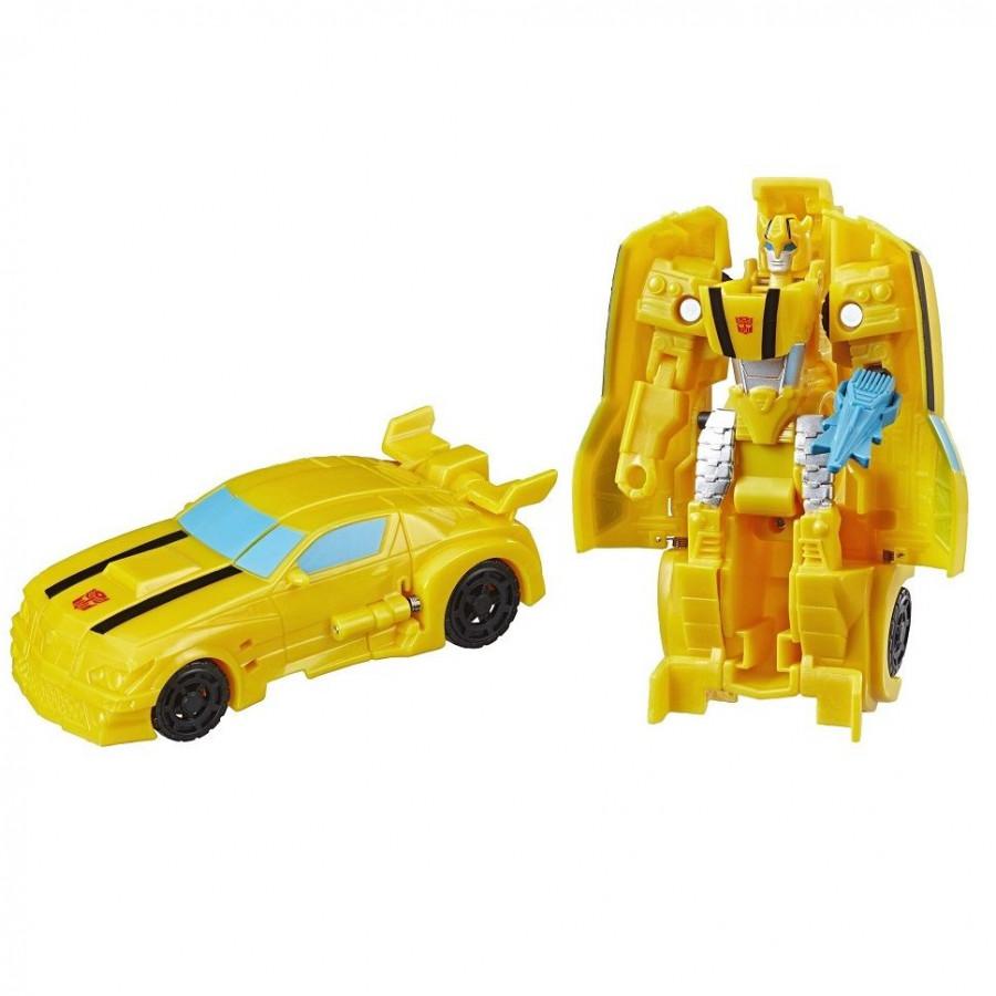Mô hình xe ôtô màu vàng 2 bước biến hình thành robot
