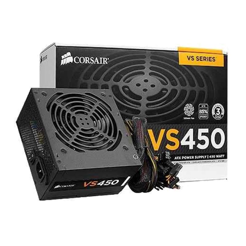 Bộ Nguồn Máy Tính Corsair Gaming VS450 Công Suất Thực  450W - 80 Plus White ( PSU Corsair Builder Series VS450 ) - HÀNG FPT PHÂN...