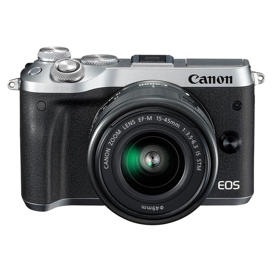 Máy Ảnh Kĩ Thuật Số Mini Canon EOS M6 (15-45) - Bạc