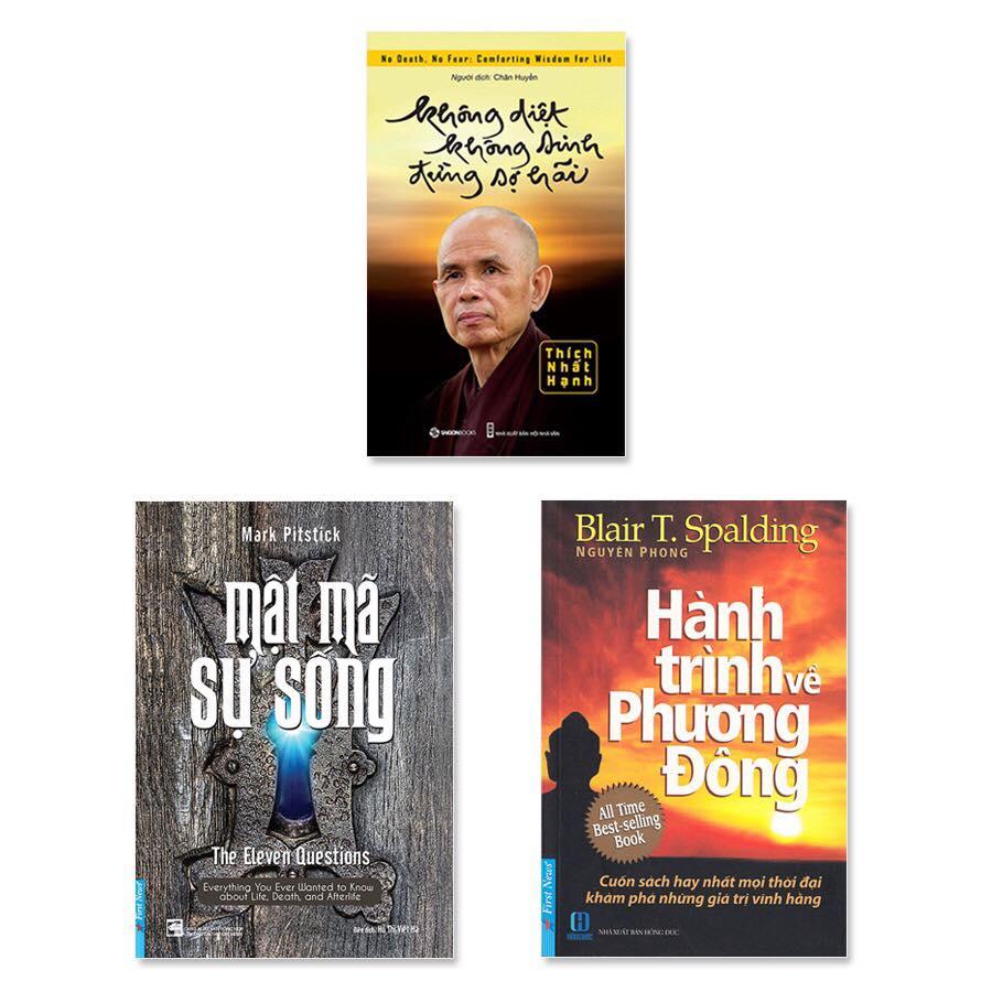 Combo 3 cuốn: Mật Mã Sự Sống, Không Diệt Không Sinh Đừng Sợ Hãi, Hành Trình Về Phương Đông - 2001475 , 9737544660360 , 62_8020954 , 236000 , Combo-3-cuon-Mat-Ma-Su-Song-Khong-Diet-Khong-Sinh-Dung-So-Hai-Hanh-Trinh-Ve-Phuong-Dong-62_8020954 , tiki.vn , Combo 3 cuốn: Mật Mã Sự Sống, Không Diệt Không Sinh Đừng Sợ Hãi, Hành Trình Về Phương Đông