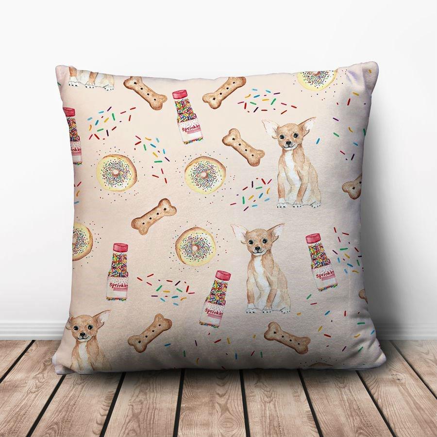 Gối Ôm Vuông Chó Và Kẹo Cốm GVHT063 (36 x 36 cm)