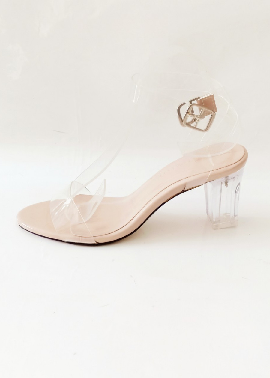 Sandal 7cm quai trong gót mica siêu sang - SZN 032