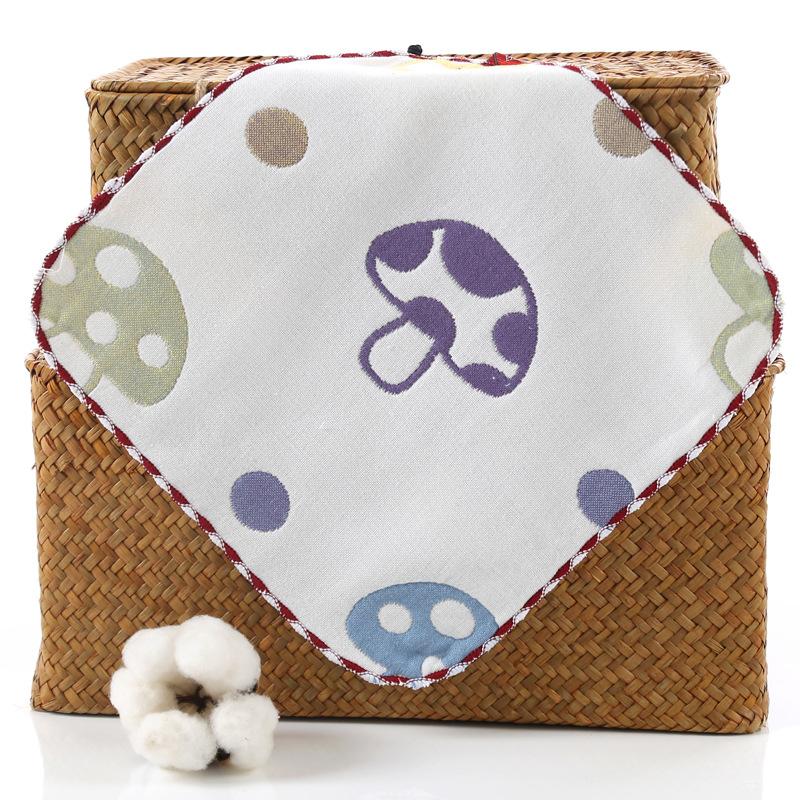 Six Layers Gauze Infant Bib Cartoon Pattern Cotton Towel Kids Soft Face Towels