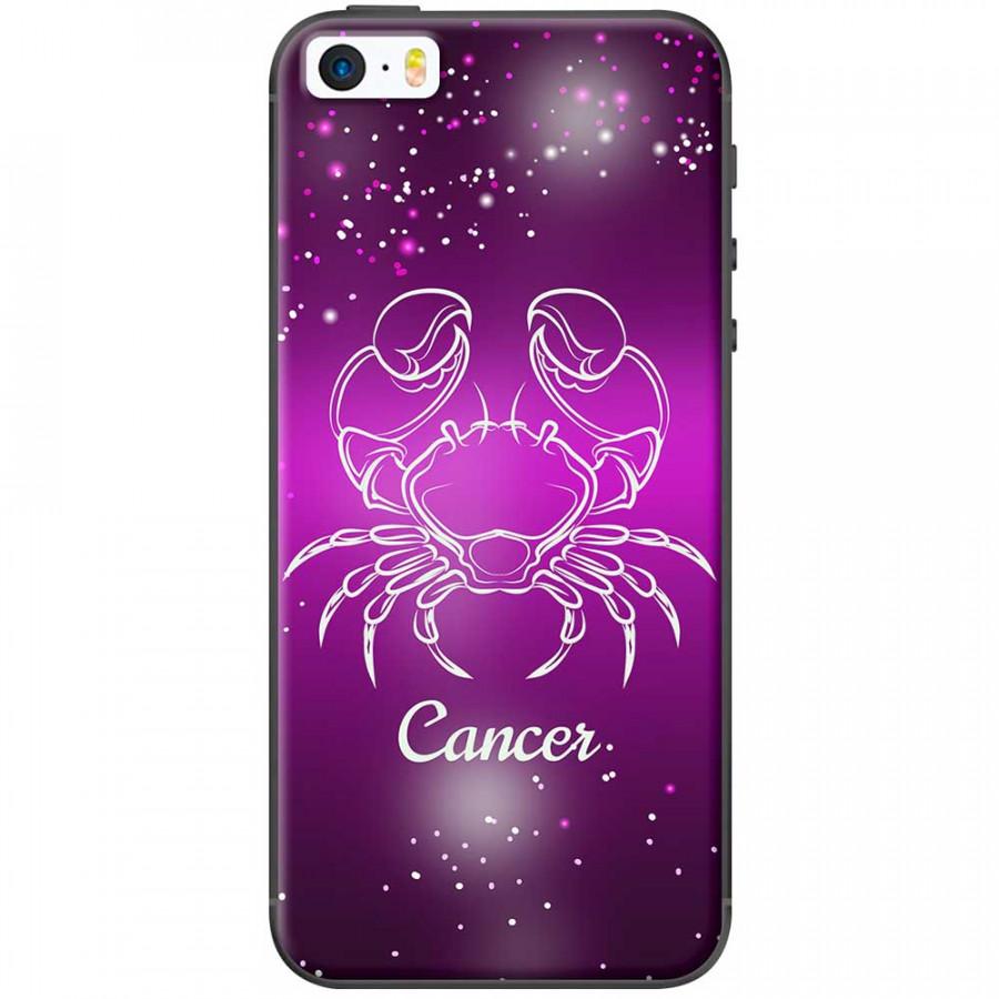 Ốp lưng  dành cho iPhone 5, iPhone 5s mẫu Cung hoàng đạo Cancer (hồng)