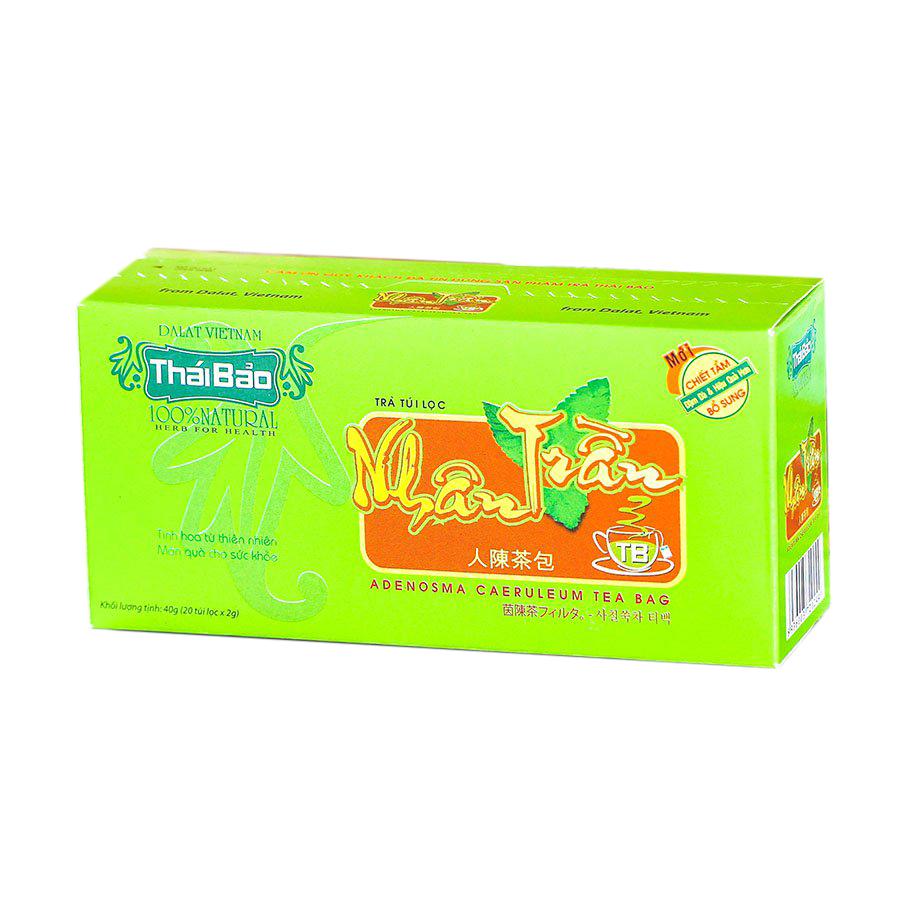 Hộp Trà Nhân Trần Túi Lọc Thái Bảo mẫu xanh (20 Tép x 2g)