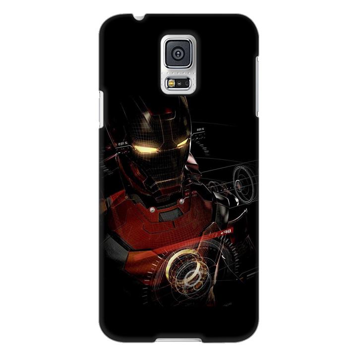 Ốp lưng nhựa cứng nhám dành cho Samsung Galaxy S5 in hình Người Sắt