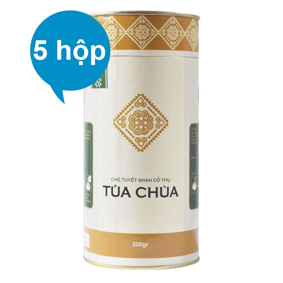 Combo 5 Chè Tuyết Shan Cổ Thụ Tủa Chùa Dien Bien Food (200g / Hộp)