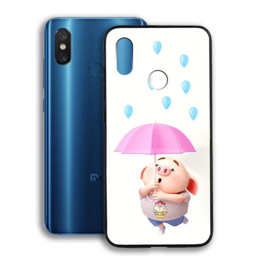 Ốp lưng viền TPU cho điện thoại Xiaomi Mi 8 - 02085 0523 PIG26 - Hàng Chính Hãng