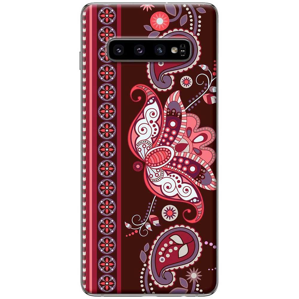 Ốp lưng  dành cho Samsung Galaxy S10 mẫu Họa tiết bướm