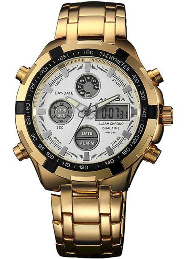 Đồng hồ AMUDA AM2002 đồng hồ kim kết hợp với led cực độc
