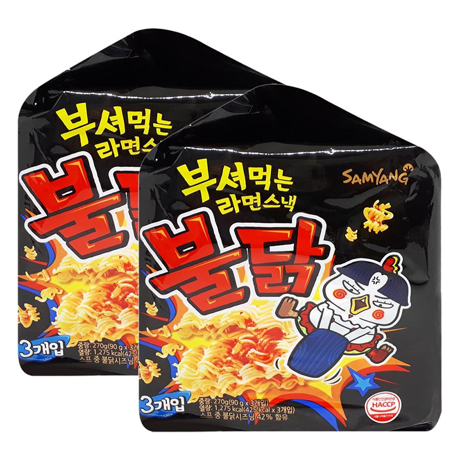 Combo 6 Gói Mì Snack Gà Cay Samyang (90g / Gói)