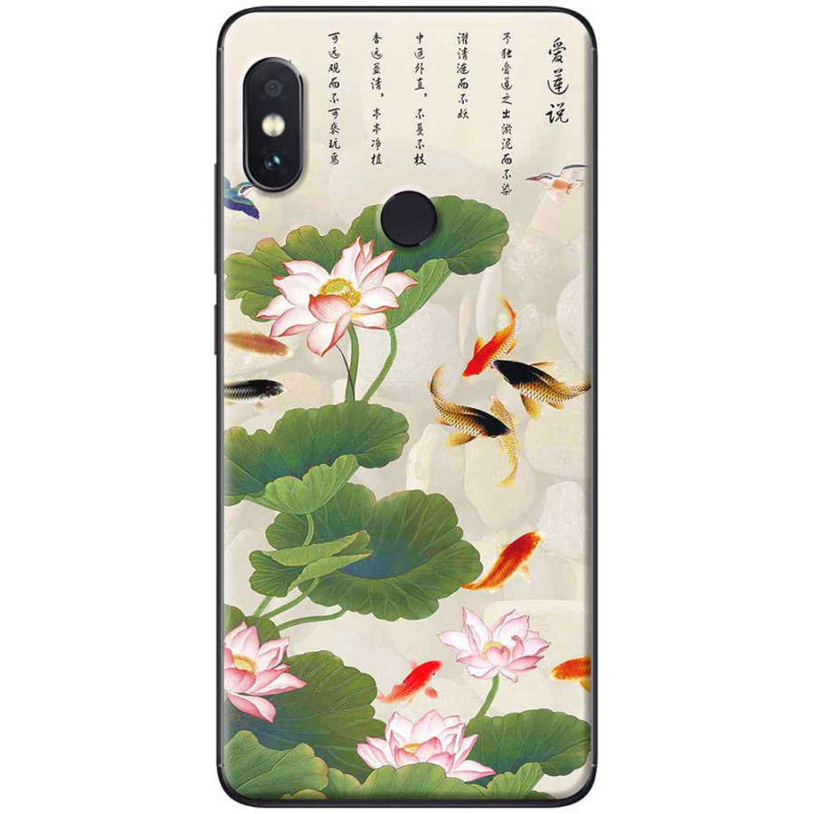 Ốp lưng dành cho Xiaomi Redmi Note 7 mẫu Hoa sen cá