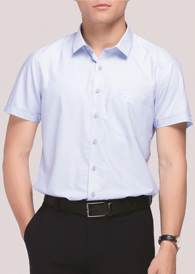 Áo Sơ Mi Nam Ngắn Tay Bodyfit Owen BA80979N - Xanh Da Trời Nhạt