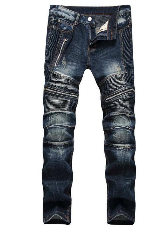 Quần jeans ống côn xếp ly dây kéo Mã: ND1405