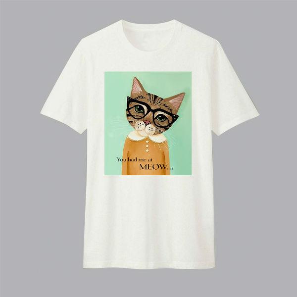Áo T-shirt Trẻ Em Yellow Cat Dotilo HU010 - Trắng