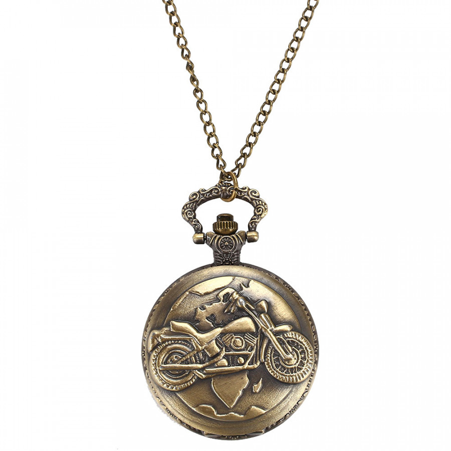 Fob Pocket Watch Pocket Watch Retro Motorcycle Antique Sweater Chain Hanging Chain
