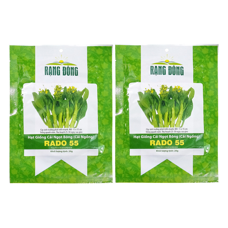 Bộ 2 Túi Hạt Giống Cải Ngồng Rạng Đông (Brassica Juncea) (20g x 2)
