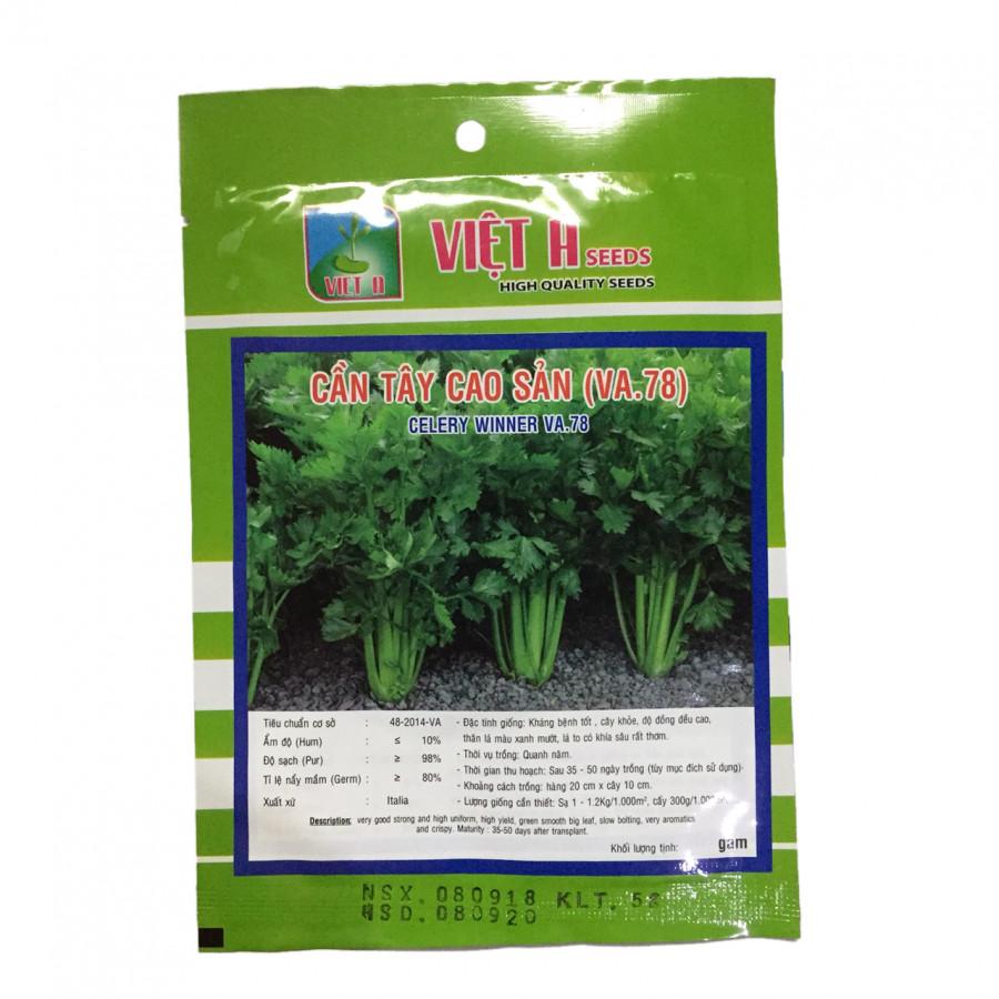 Hạt giống rau Viet A: Cần tây cao sản  5g - 1308855 , 4782800168093 , 62_6353373 , 50000 , Hat-giong-rau-Viet-A-Can-tay-cao-san-5g-62_6353373 , tiki.vn , Hạt giống rau Viet A: Cần tây cao sản  5g