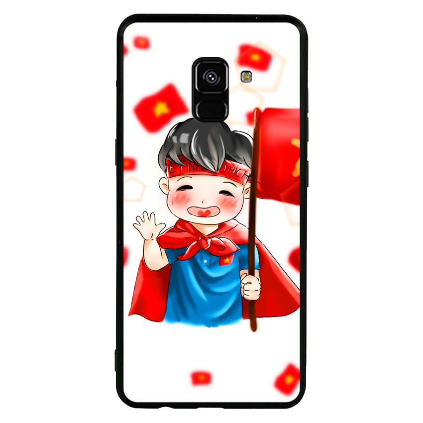 Ốp Lưng Viền TPU Cho Samsung Galaxy A8 Plus - U23 Mau 6