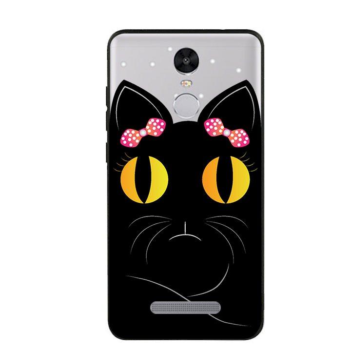 Ốp lưng viền TPU cho Xiaomi Redmi Note 3 - Mèo Mun 02