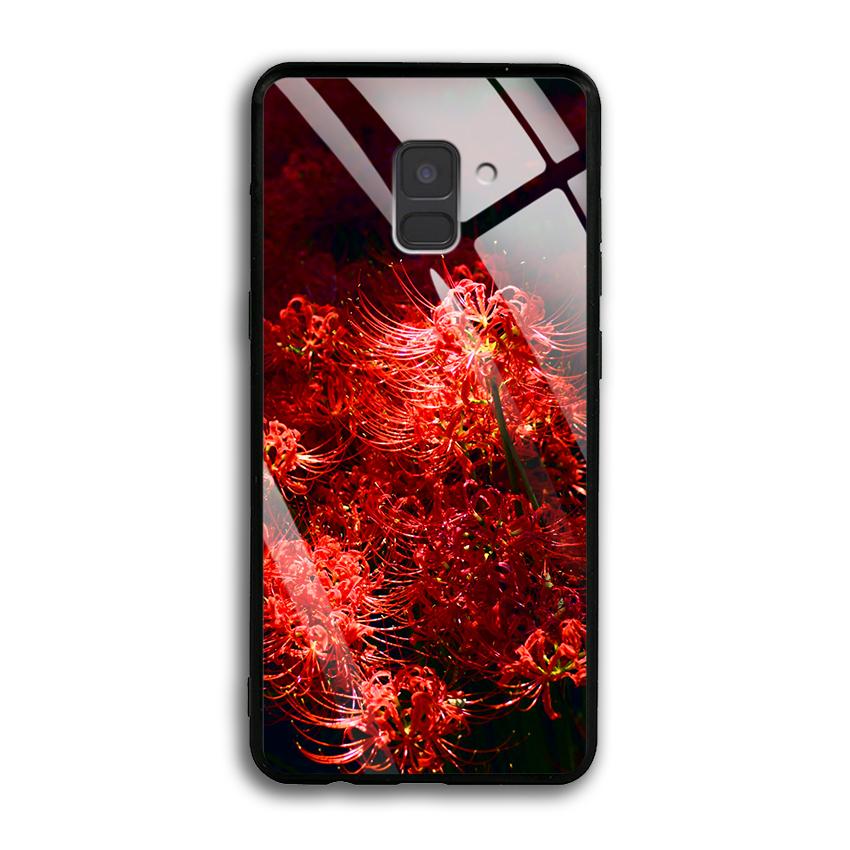 Ốp Lưng Kính Cường Lực cho điện thoại Samsung Galaxy A8 2018 Plus - 03011 0592 HOABINGAN03 - In hình Hoa Bỉ Ngạn - Hàng...