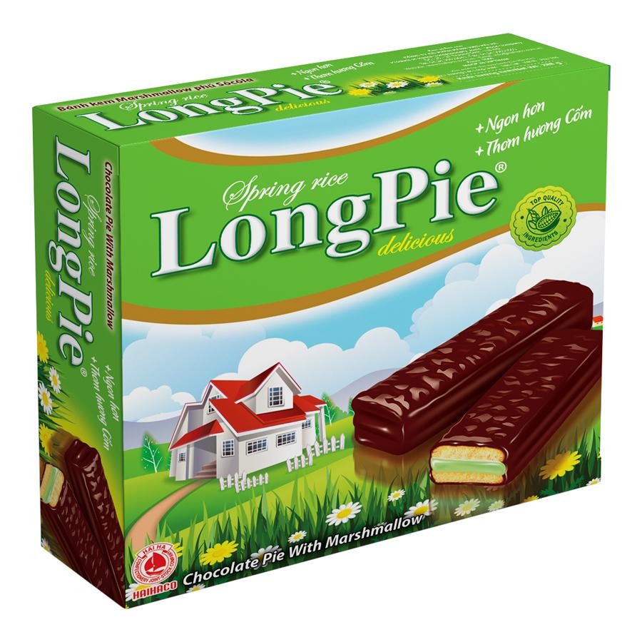 Bánh Longpie cốm Hải Hà hộp 288g - 7527653 , 6707686461791 , 62_16353666 , 47000 , Banh-Longpie-com-Hai-Ha-hop-288g-62_16353666 , tiki.vn , Bánh Longpie cốm Hải Hà hộp 288g