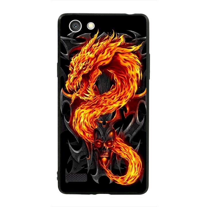 Ốp lưng viền TPU cho dành cho Oppo Neo 7 - Fire Dragon