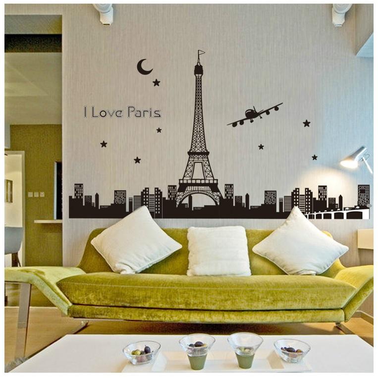 Decal dán tường Dạ quang Paris