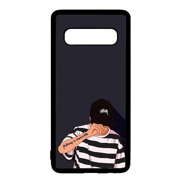 Ốp lưng điện thoại dành cho Samsung S10  Bad Boy Nón Đen
