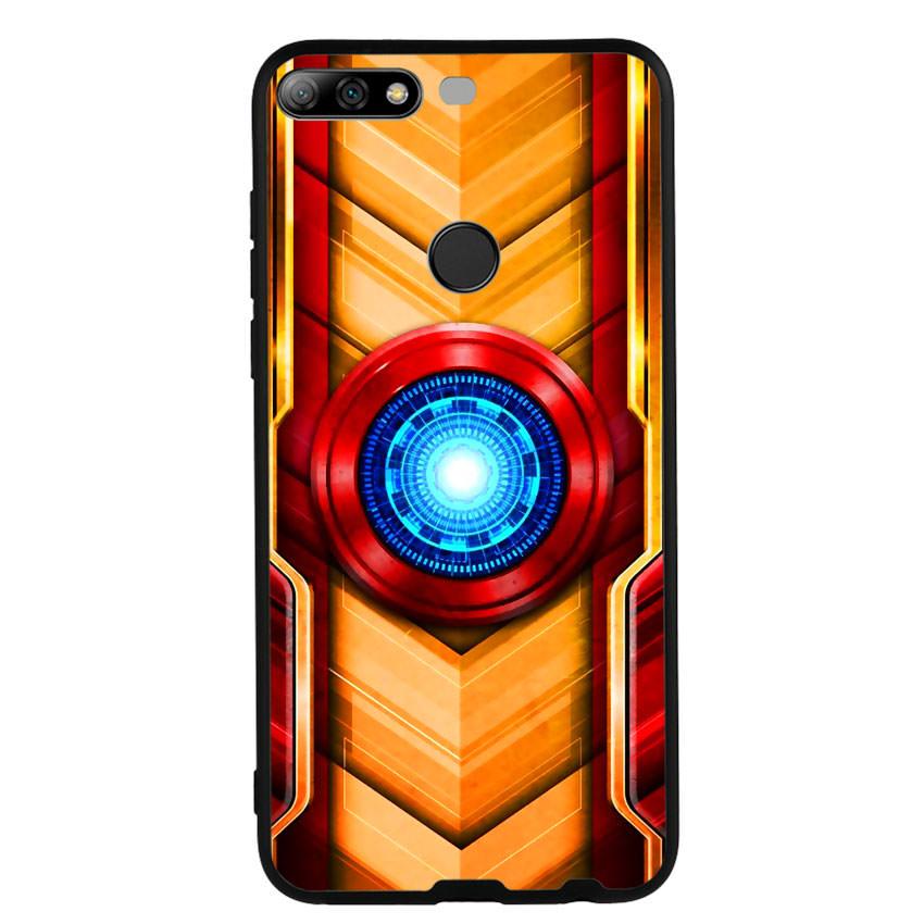 Ốp Lưng Viền TPU cho điện thoại Huawei Y7 Prime 2018 - Iron Man 01