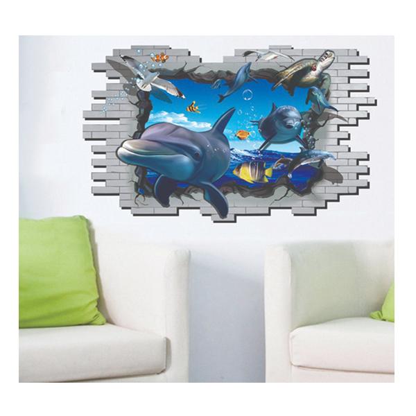 Decal Dán Tường Cửa Sổ 3D Đại Dương 1 PK422 (60 x 90 cm)