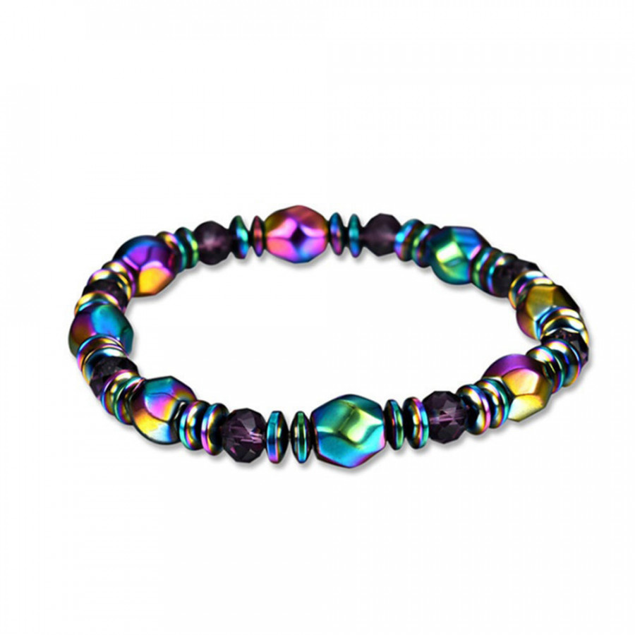 Bangle Bracelet Colorful Weight Loss Therapy Hand Chain Beads Magnetic Jewelry Women Health Care Accessories