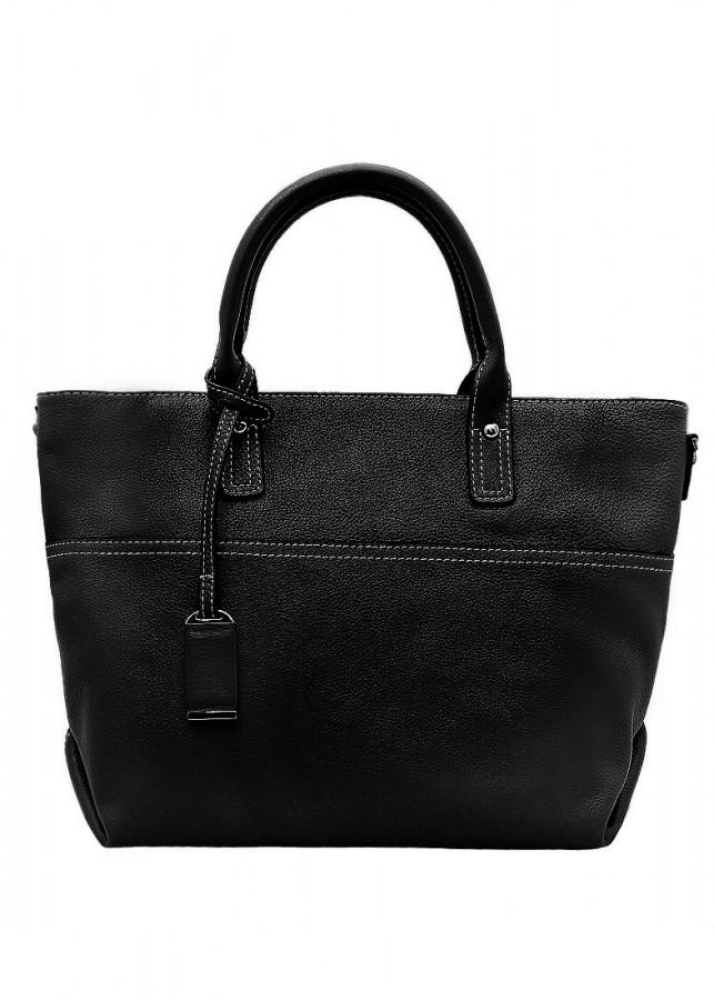 Túi xách tay nữ da bò thật màu đen ET651