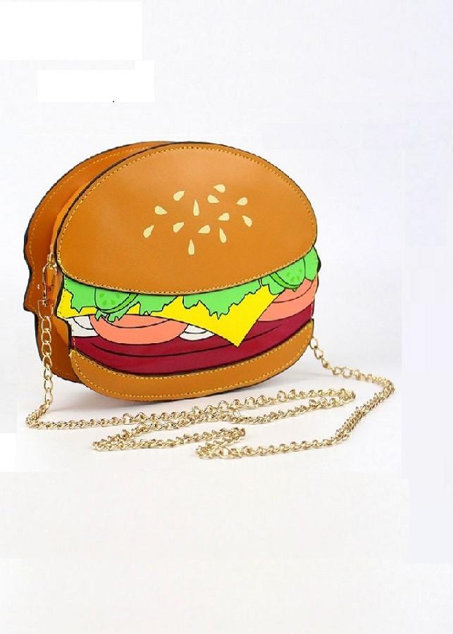 Túi đeo chéo hình thức ăn nhanh 3D - giao kiểu ngẫu nhiên