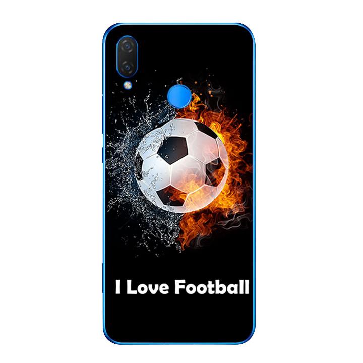 Ốp lưng dẻo cho điện thoại Huawei Y9 2019 - I Love Football