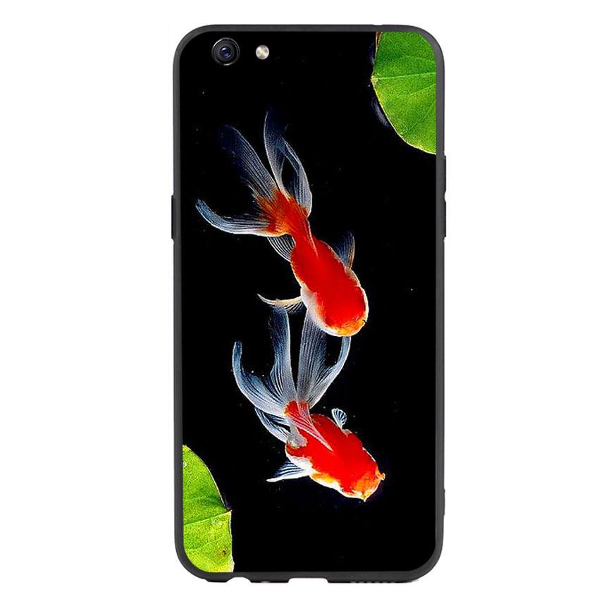 Ốp lưng nhựa cứng viền dẻo TPU cho điện thoại Oppo F3 Plus - Cá Koi 03