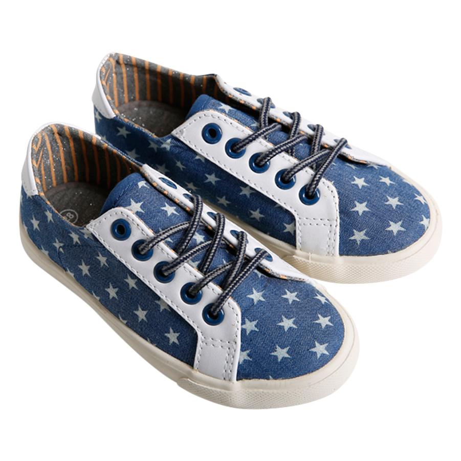 Giày Sneaker Buộc Dây Bé Gái Urban UG1609J - Bò Xanh