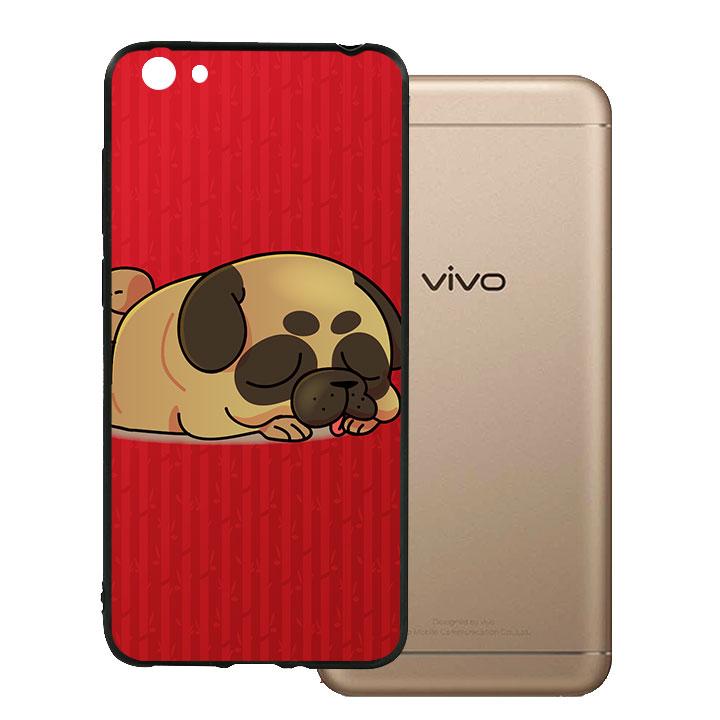 Ốp lưng viền TPU cho Vivo Y55 - Kute Dog 03