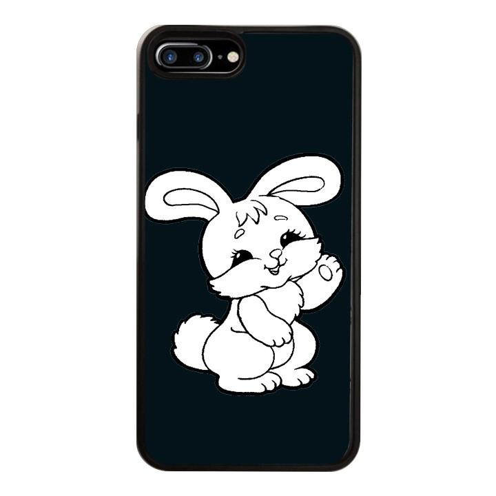 Ốp Lưng Kính Cường Lực Dành Cho Điện Thoại iPhone 7 Plus / 8 Plus Thỏ Trắng